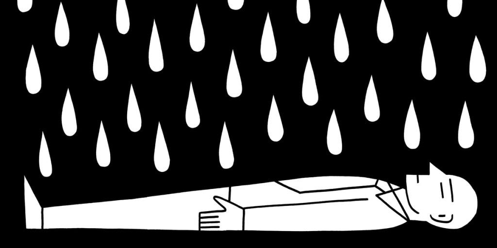 When it pours. stock illustration