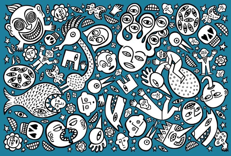 the world around me. stock illustration