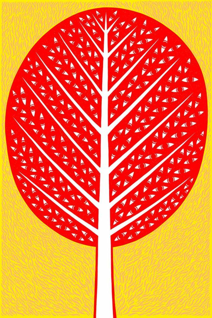 This tree has eyes. Stock illustration