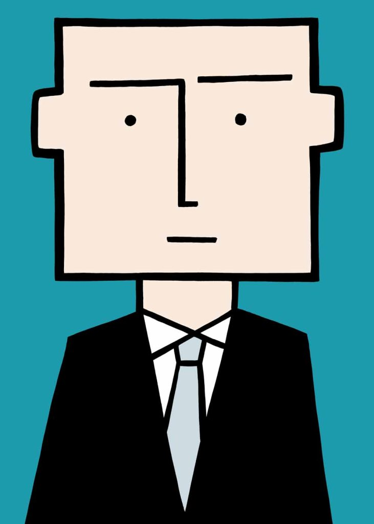 I'm not square. a stock illustration for business