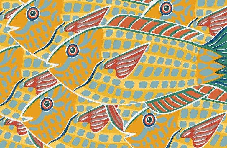 yellow fish stock illustration