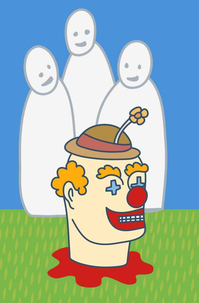 we love clowns stock illustration