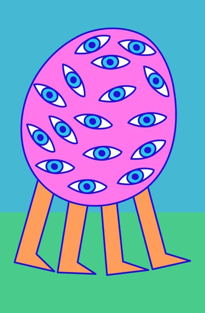 My eyes stock illustration