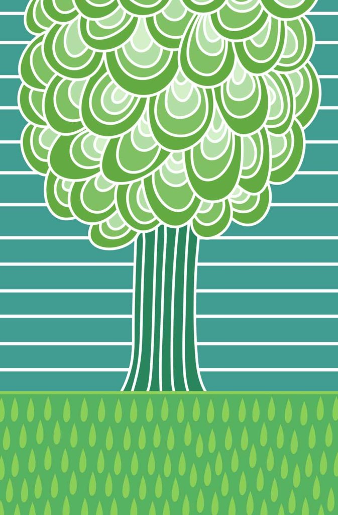 Trees are green stock illustration