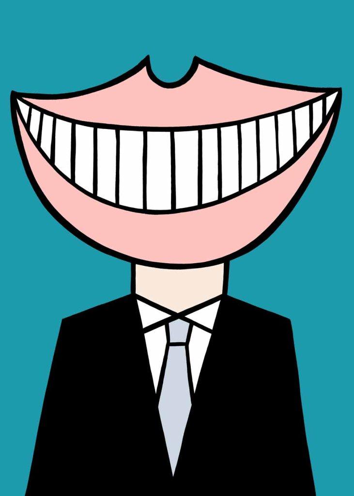 Smile. stock illustration