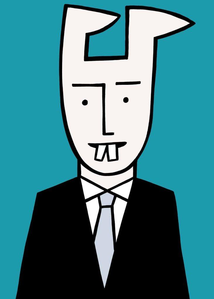 Business rabbit. stock illustration