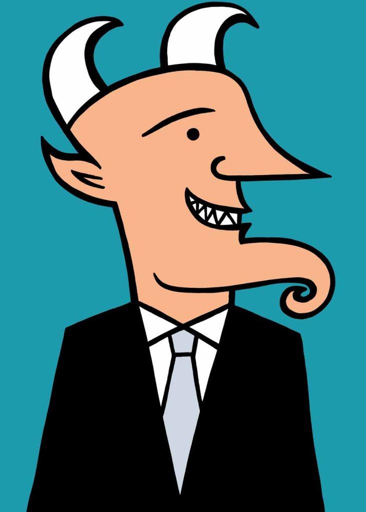 Business devil. stock illustration