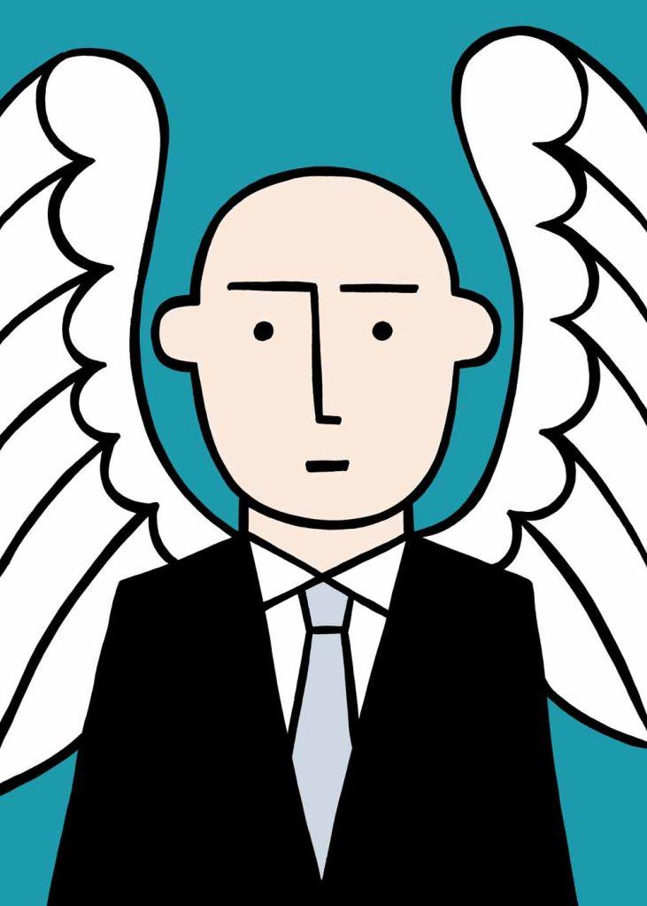 Business angel. stock illustration