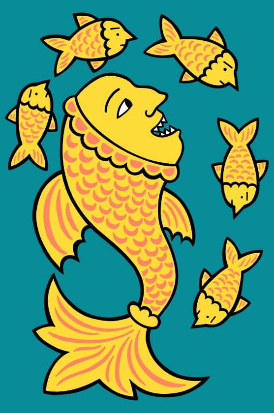 It's a fish eat fish world illustration