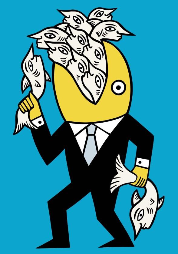 The fisher of men illustration