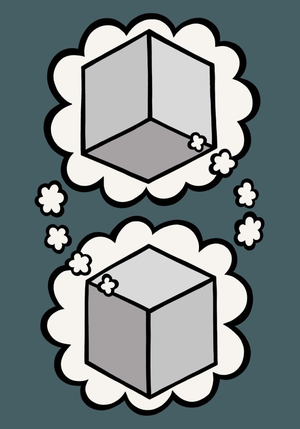 Think box illustration