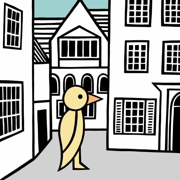 A duck around town