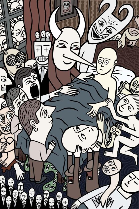 Good night. stock illustration