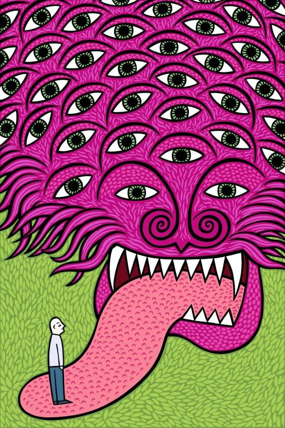 Passive observer . stock illustration