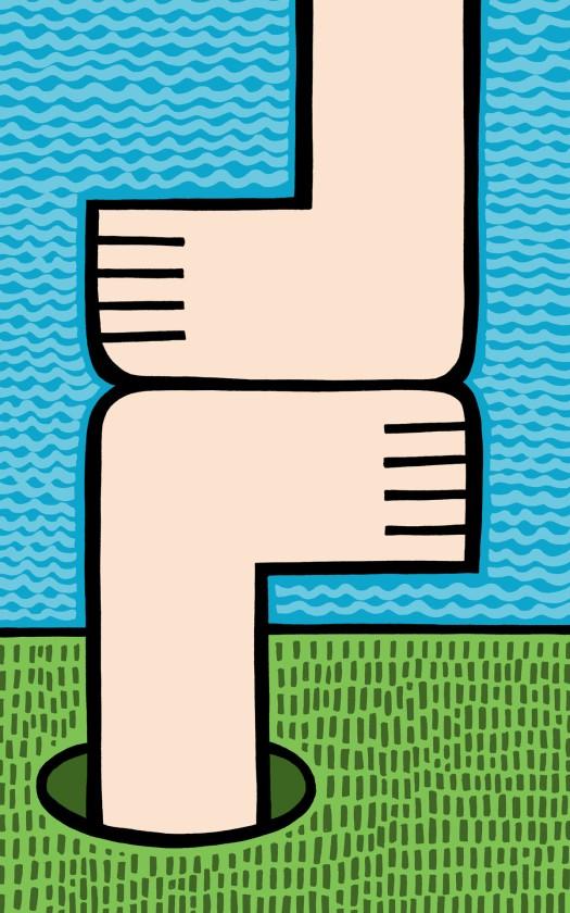 feet meet. stock illustration