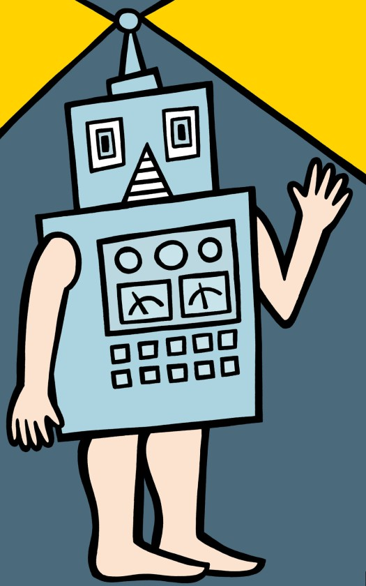 me robot. stock illustration