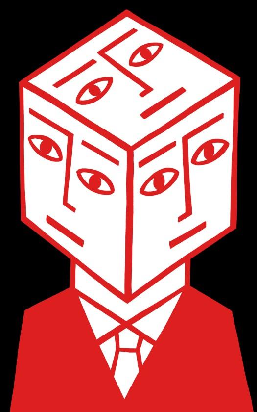 cube dude. stock illustration