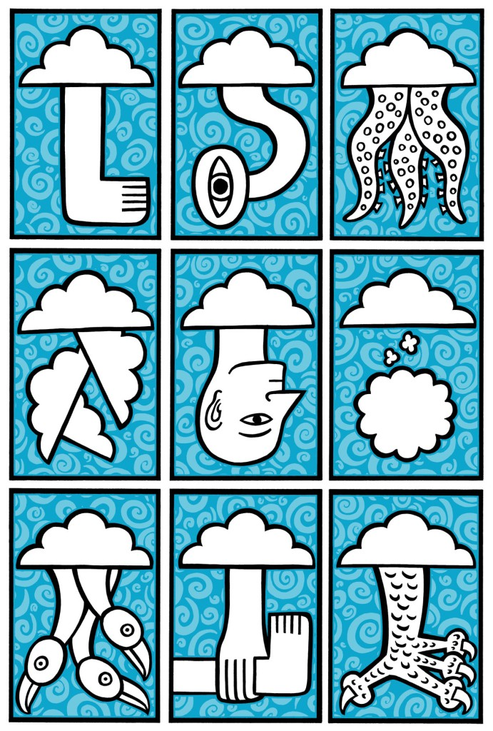 clouds today. stock illustration