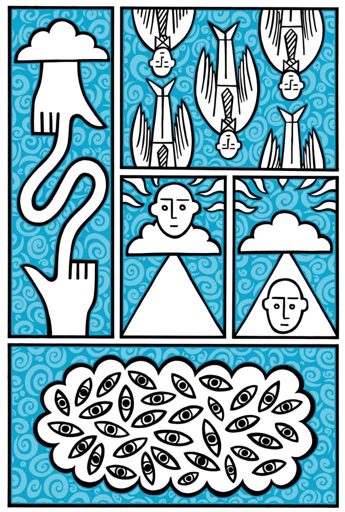 angels fall. stock illustration