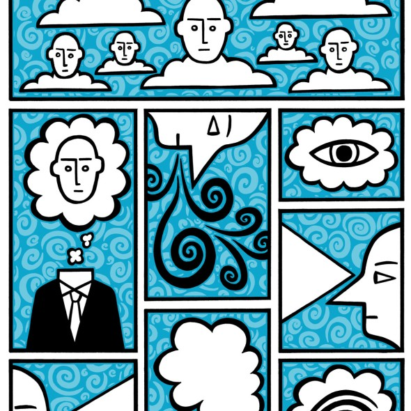 cloud 9 and 10. stock illustration