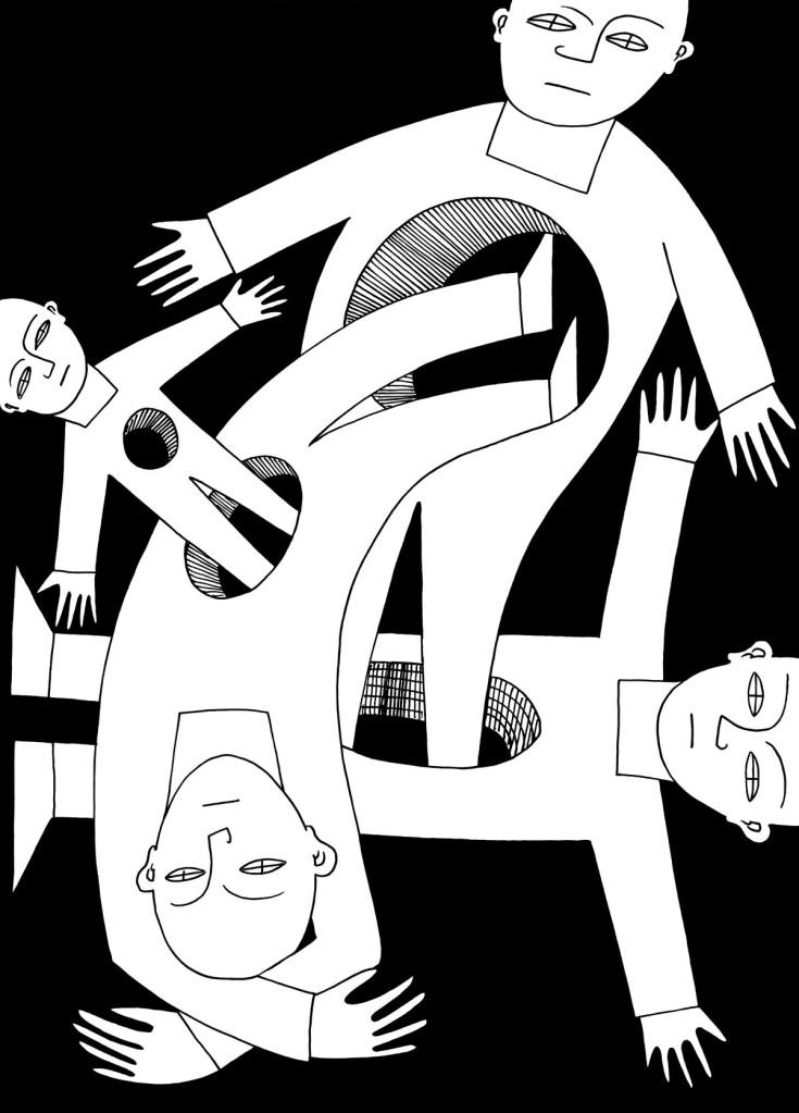 Jumping through hoops stock illustration