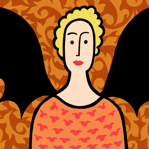 bat lady stock illustration